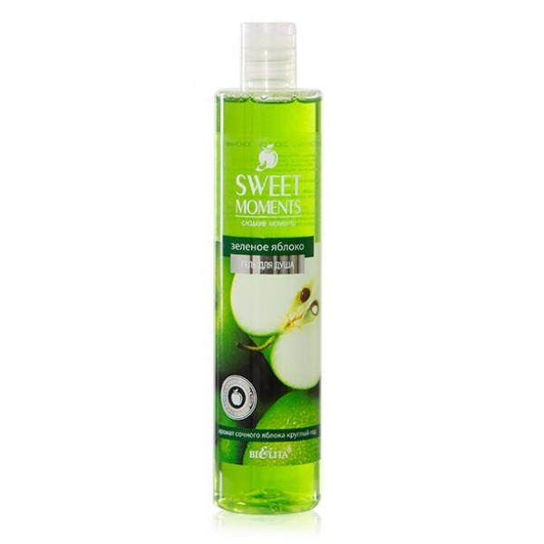 "Gel za tuširanje ZELENA JABUKA ""Sweet moments"" , 345 ml"